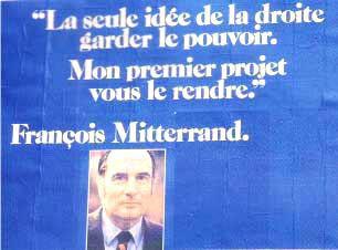 affiche présidentielle 1974 Mitterrand