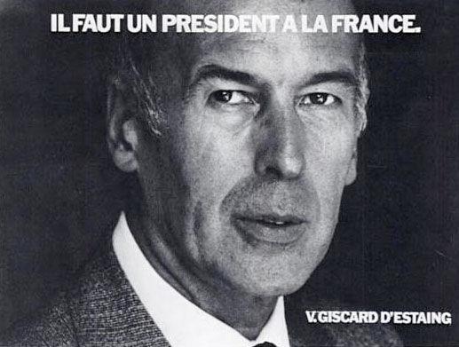 affiche présidentielle 1981 Giscard