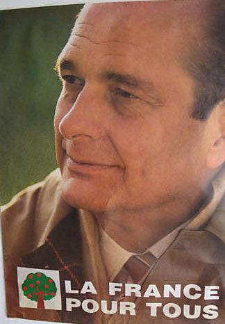 affiche présidentielle 1995 Chirac