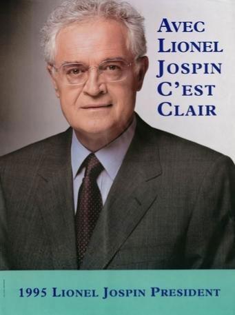 affiche présidentielle 1995 Jospin