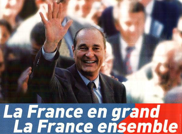 affiche présidentielle 2002 Chirac
