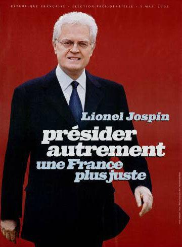 affiche présidentielle 2002 Jospin