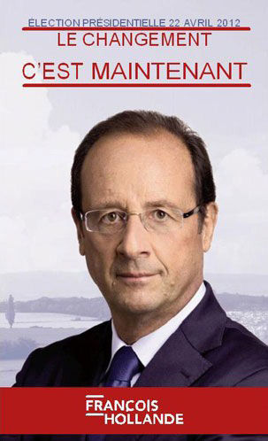 affiche Hollande 2012