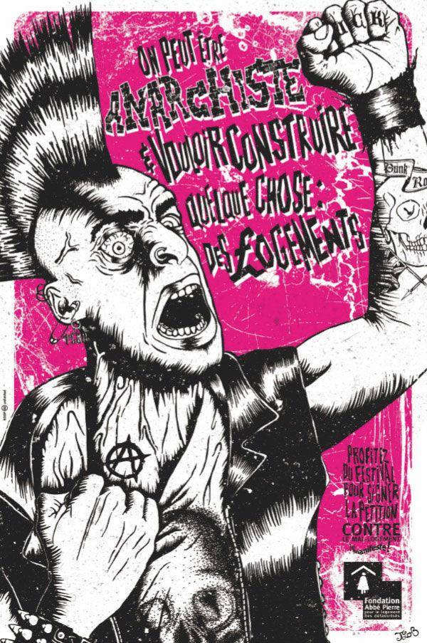 pub punk anarchiste fondation Abbé Pierre