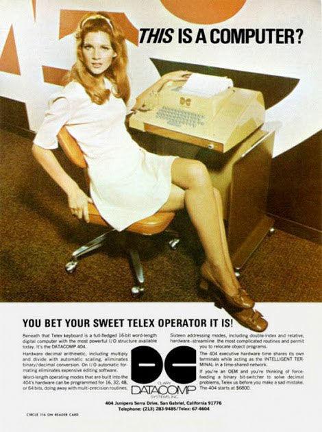 publicité sexiste telex 1962