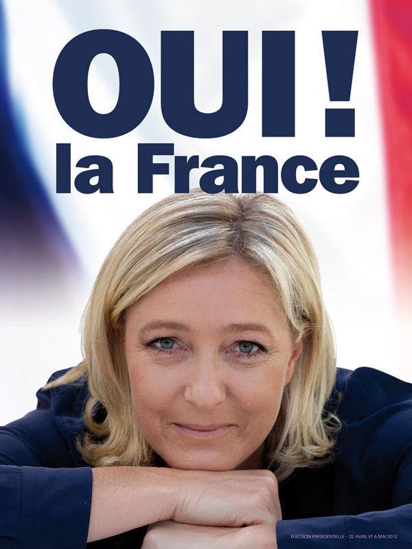 affiche Le Pen 2012