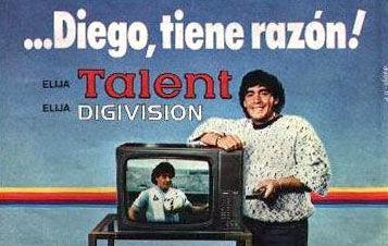 pub maradona télévision