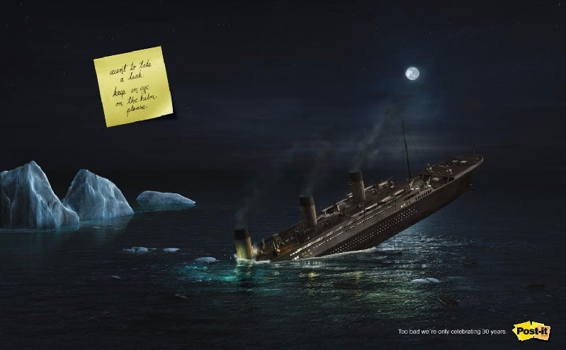 pub Titanic post it