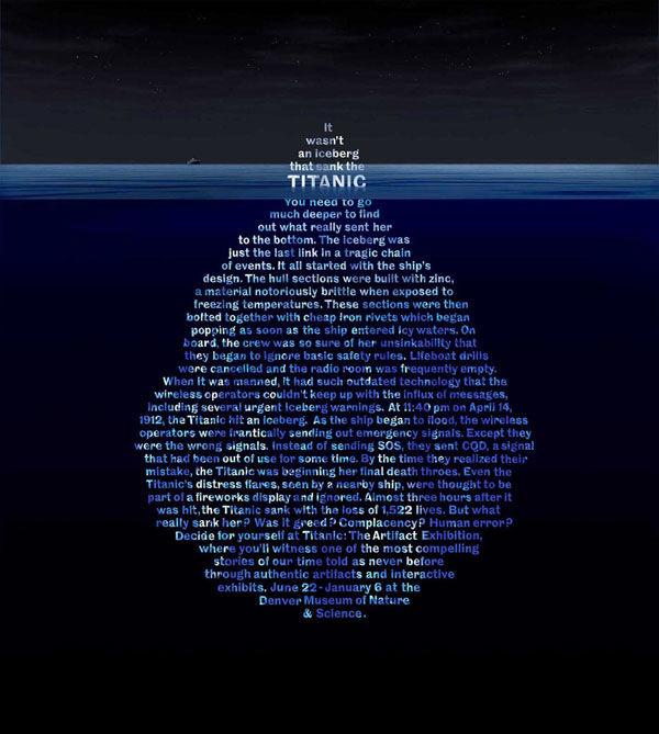 Denver Museum Of Nature Science: Le Titanic : 100 Ans Et 50 Publicités Plus Tard
