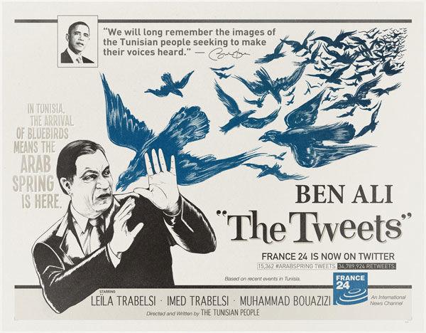 pub twitter france 24 ben ali