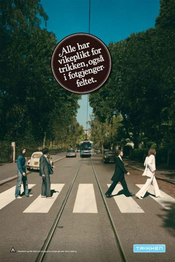 pub beatles abbey road trikken