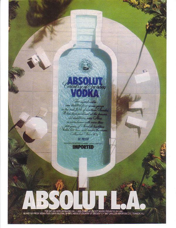 publicité absolut vodka