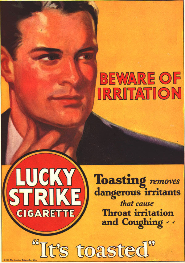 pub cigarette Lucky Strike