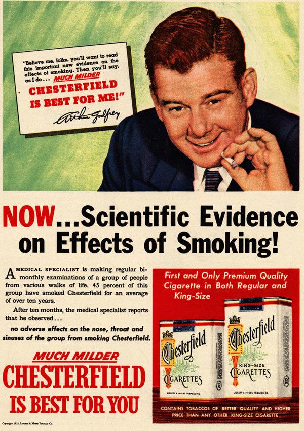 pub cigarette Chesterfield
