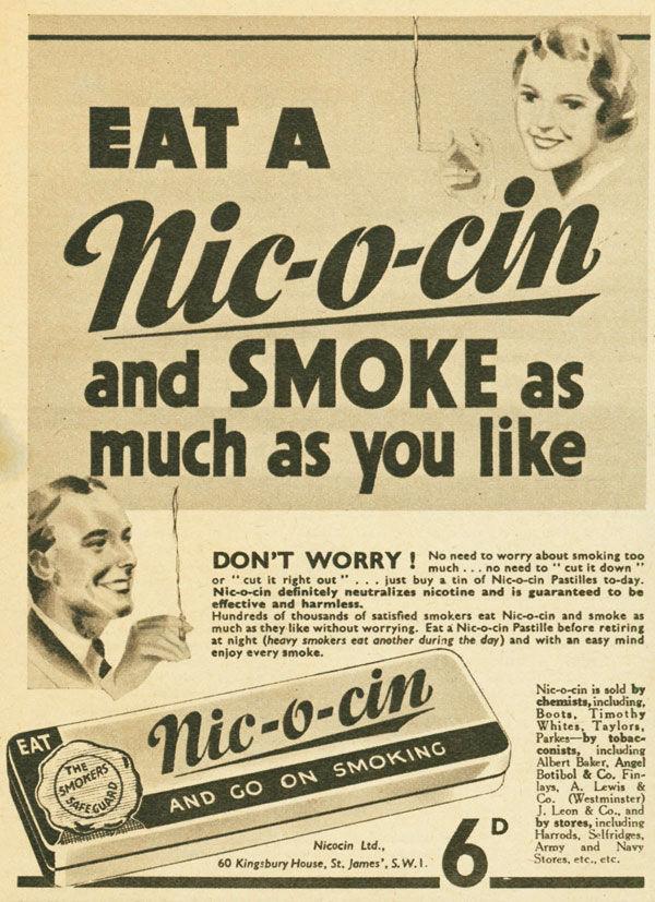 pub cigarette Nic-o-cin