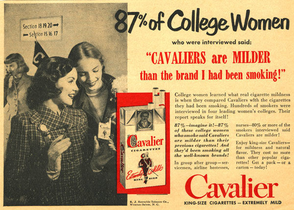 pub cigarette Cavalier