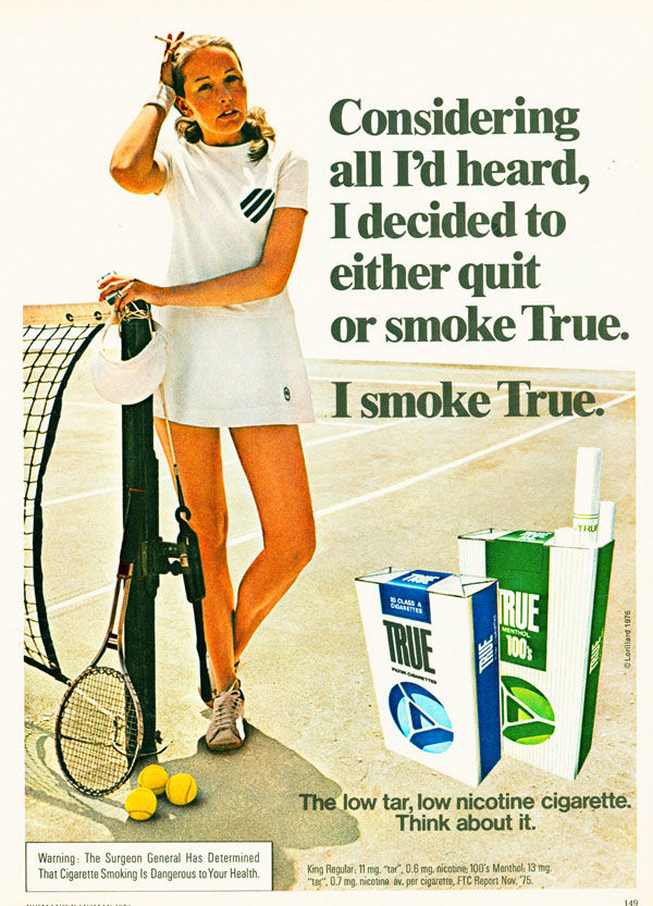 pub cigarette True