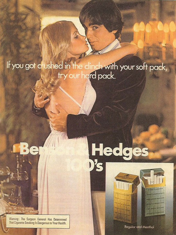 pub cigarette Benson & Hedges