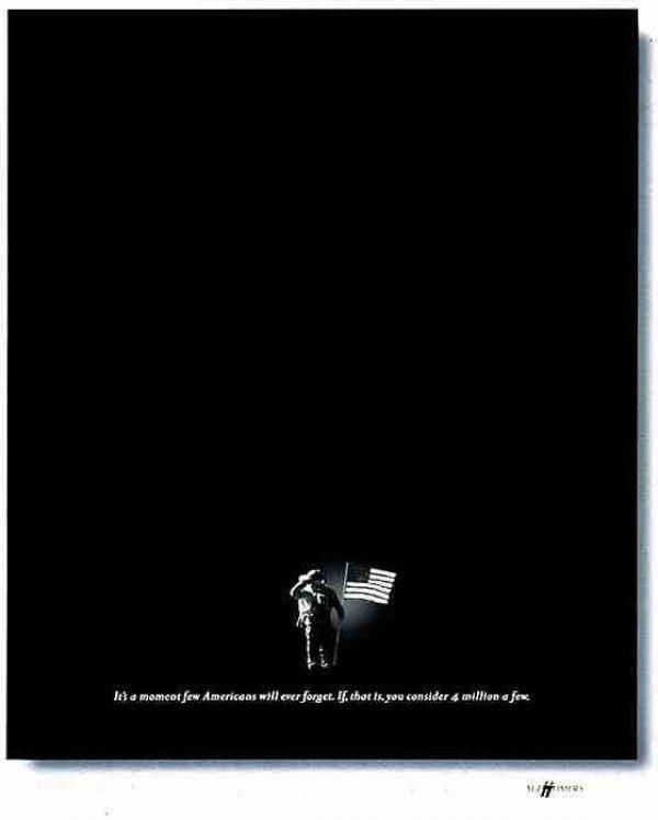 publicité homme sur la Lune Alzeihmer's Association