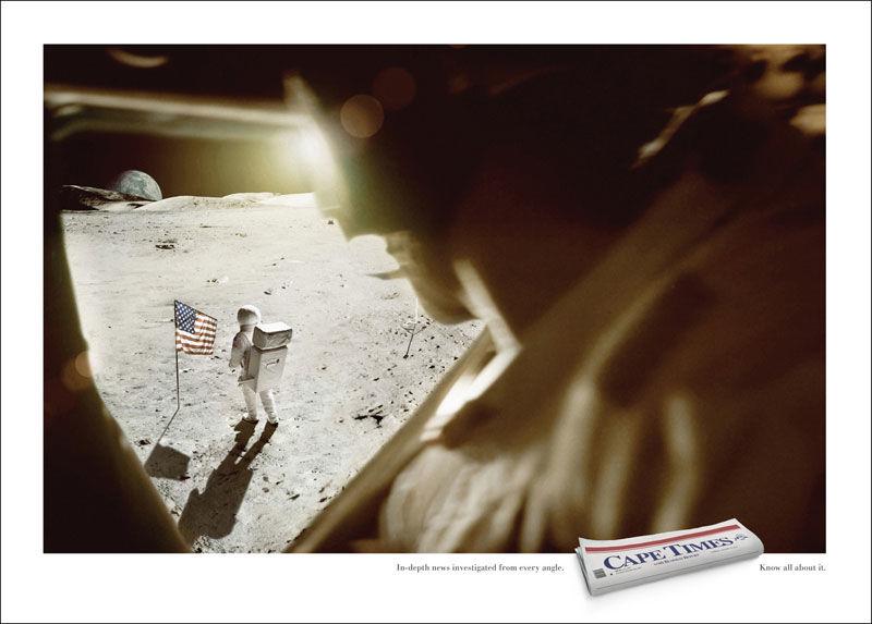 publicité homme sur la Lune CapeTimes