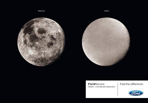 publicité homme sur la Lune Ford