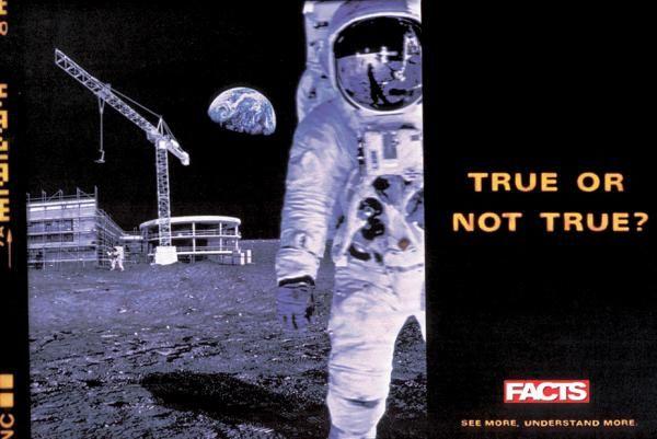 publicité homme sur la Lune Facts Magazine