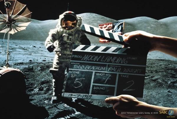 publicité homme sur la Lune SABC 3