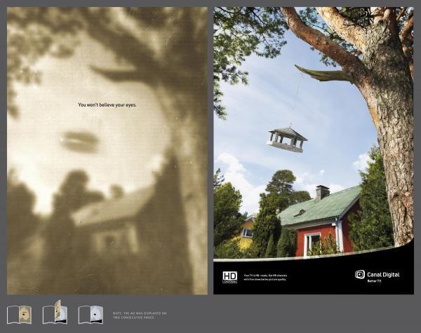 publicité ovni Canal Digital Finland