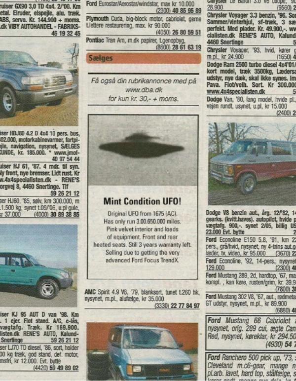 publicité ovni Ford