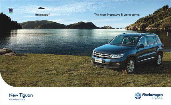 publicité ovni Volkswagen