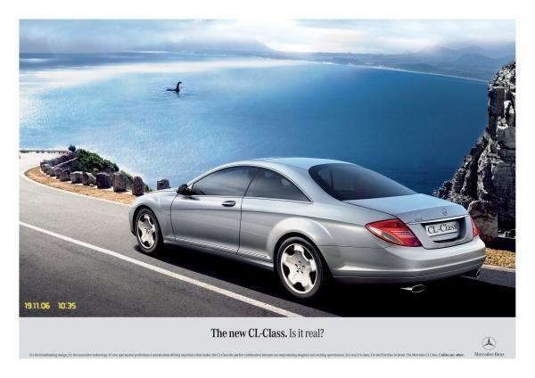 publicité lochness Mercedes