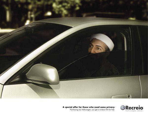 publicité ben laden Volkswagen