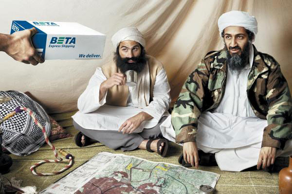 publicité ben laden Beta Express Shipping