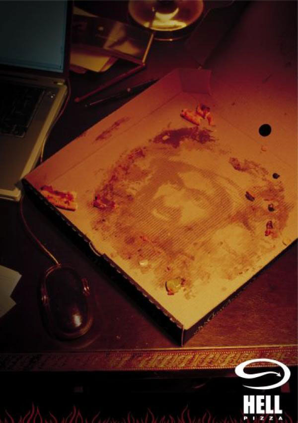 publicité ben laden Hell Pizza