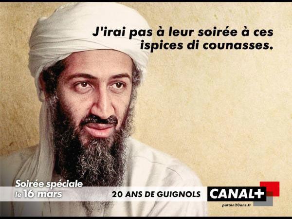 publicité ben laden Canal+
