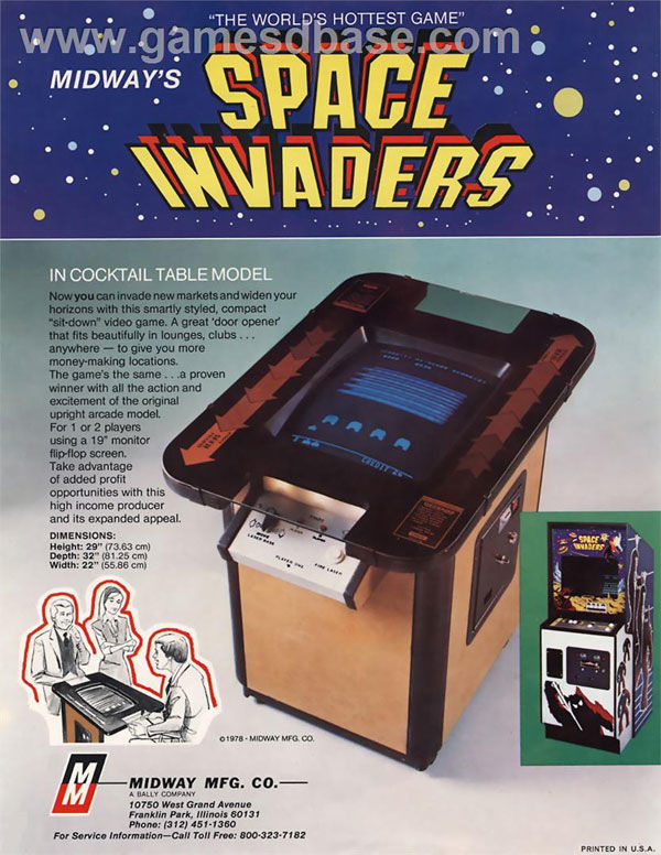 pub console Space Invaders