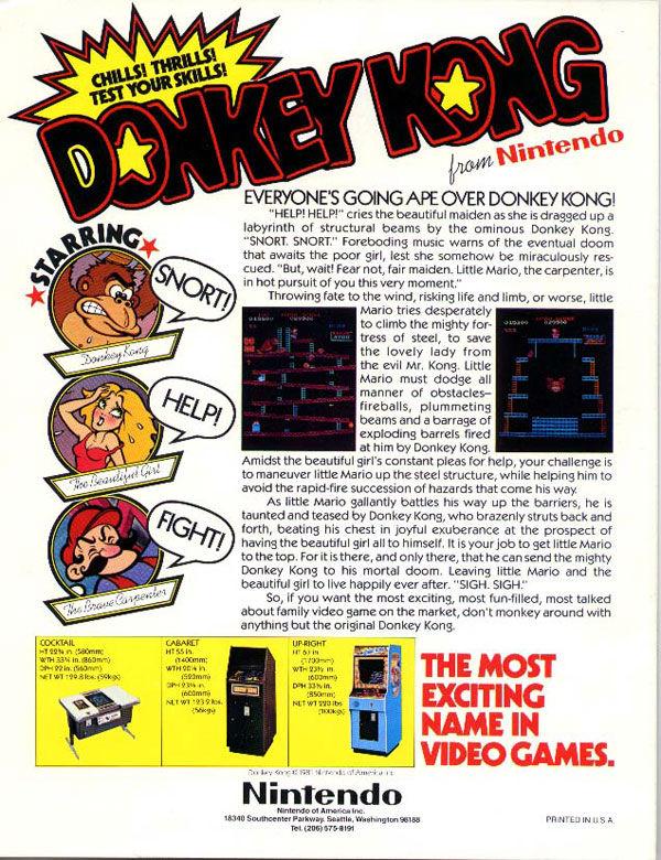 pub console Donkey Kong