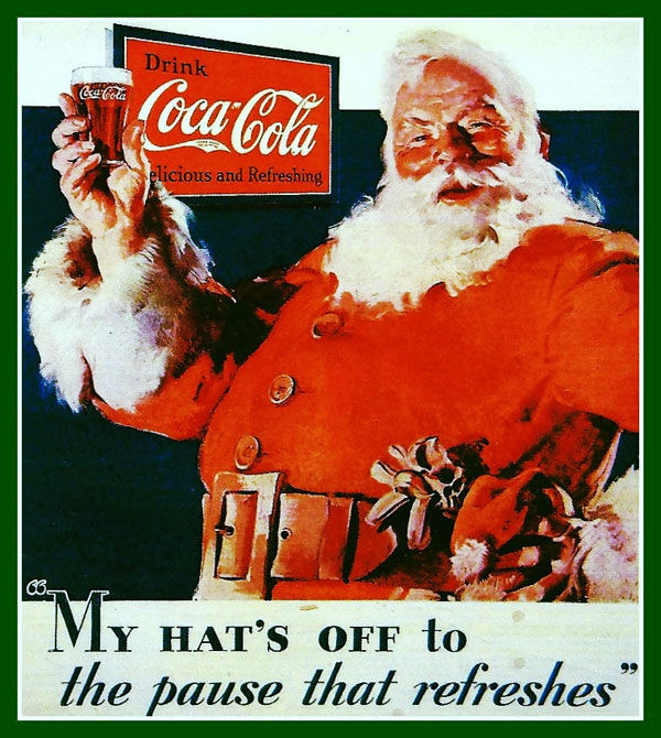 Santa Coca Cola advertising 1931