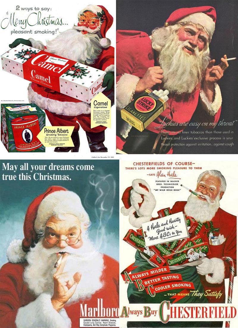 Père Noël cigarette pub