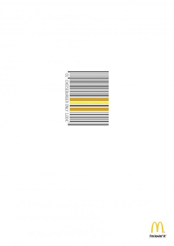 publicité code-barres macdonald's