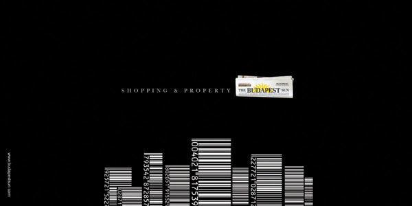 publicité code-barres budapest sun