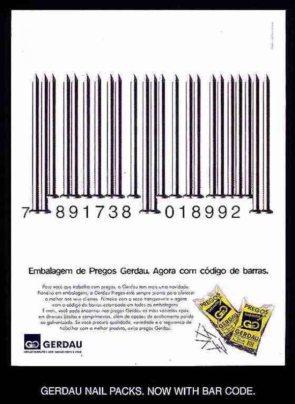 publicité code-barres gerdau