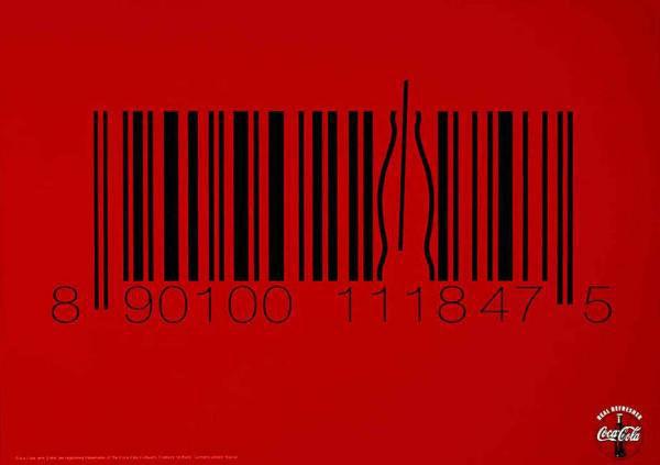 publicité code-barres coca cola