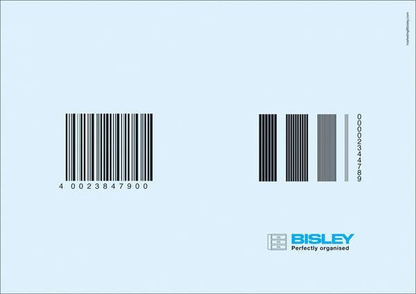 publicité code-barres bisley