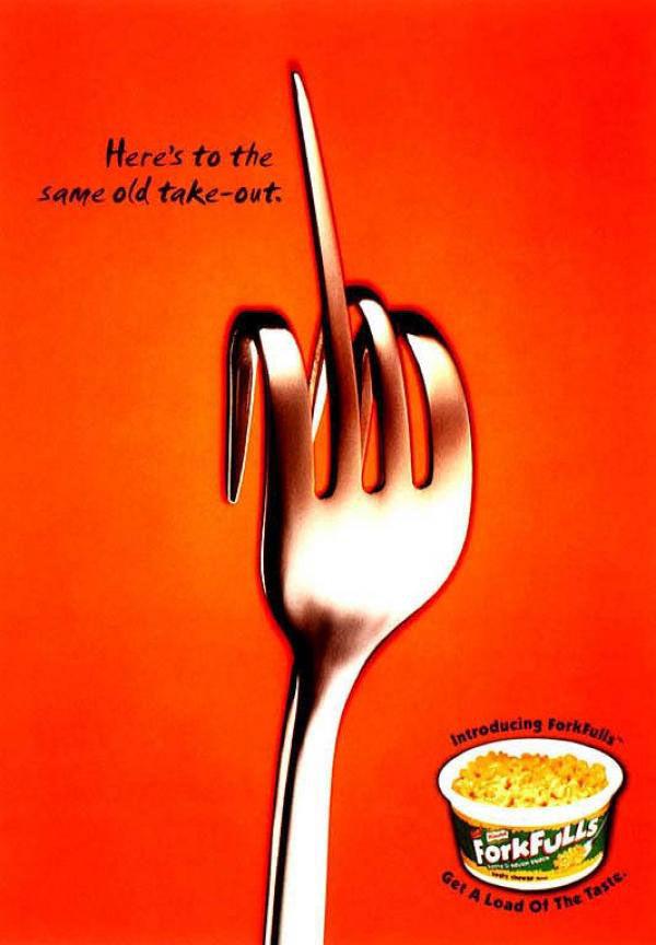 publicité doigt d'honneur Knorr ForkFulls