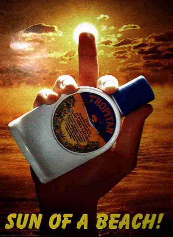 publicité doigt d'honneur Tropitan