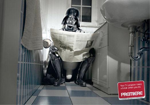 Publicité toilettes : Premiere TC