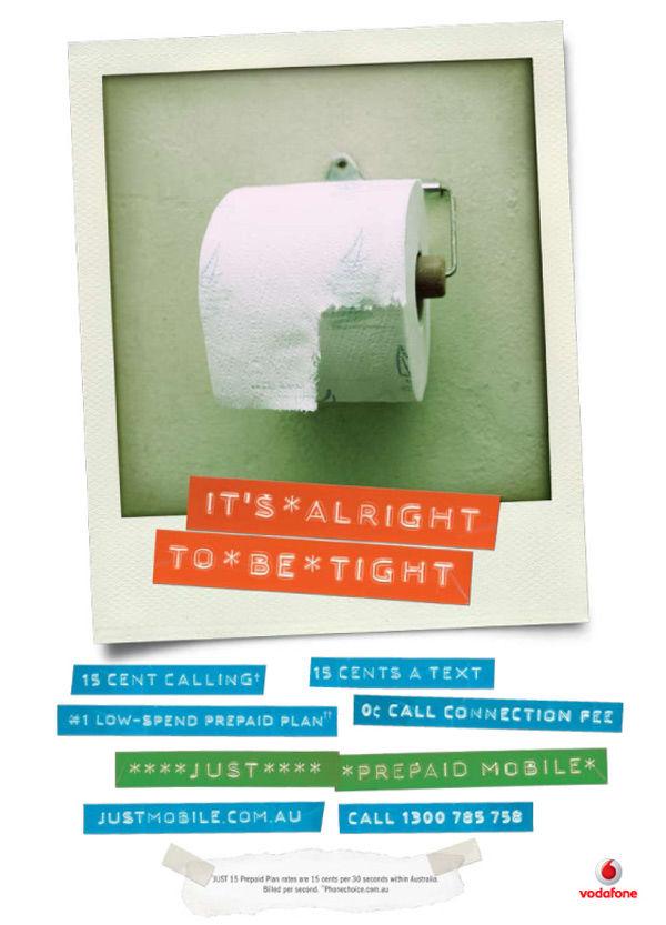 Publicité toilettes : Vodafone