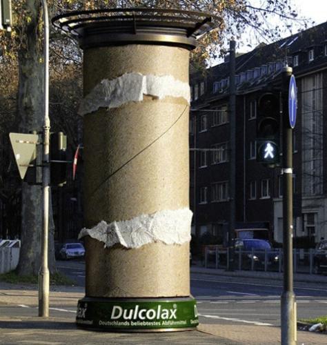 Publicité toilettes : Dulcolax Dulcolax