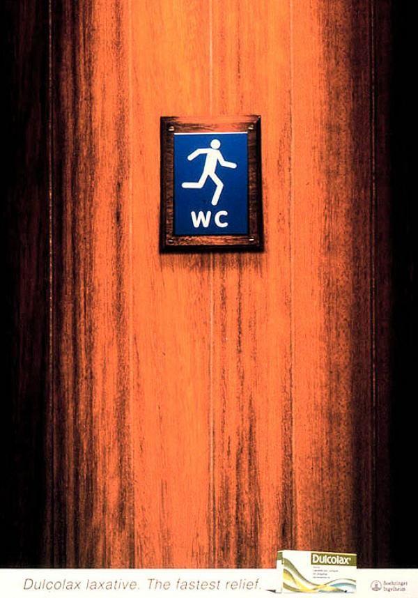 Publicité toilettes : Dulcolax